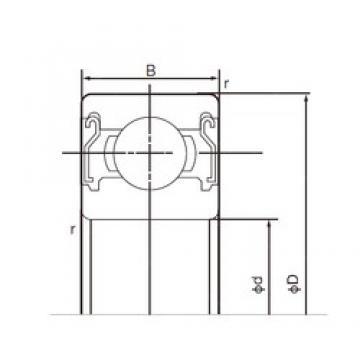 70 mm x 110 mm x 20 mm  NACHI 6014ZZE deep groove ball bearings