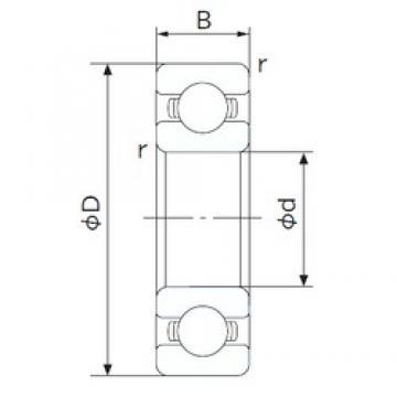 45 mm x 75 mm x 16 mm  NACHI 6009 deep groove ball bearings