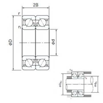70 mm x 110 mm x 20 mm  NACHI 7014DB angular contact ball bearings
