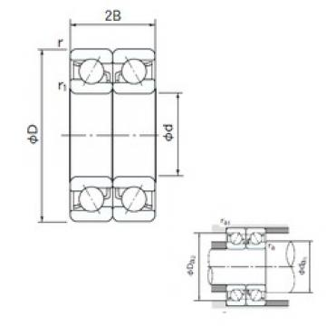 95 mm x 170 mm x 32 mm  NACHI 7219DB angular contact ball bearings