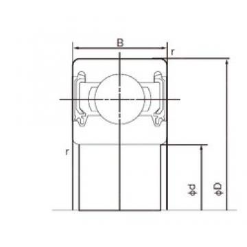 95 mm x 200 mm x 45 mm  NACHI 6319-2NK deep groove ball bearings