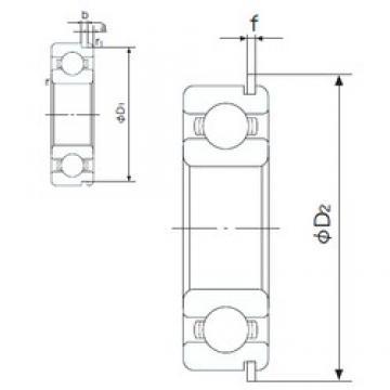 10 mm x 30 mm x 9 mm  NACHI 6200NR deep groove ball bearings