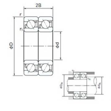 70 mm x 110 mm x 20 mm  NACHI 7014DT angular contact ball bearings