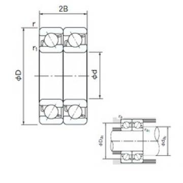 95 mm x 170 mm x 32 mm  NACHI 7219CDT angular contact ball bearings