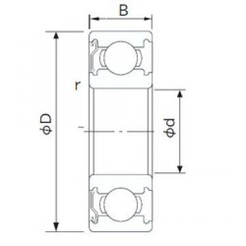 95 mm x 170 mm x 32 mm  CYSD 6219-Z deep groove ball bearings