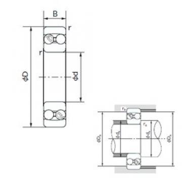 110 mm x 200 mm x 53 mm  NACHI 2222 self aligning ball bearings