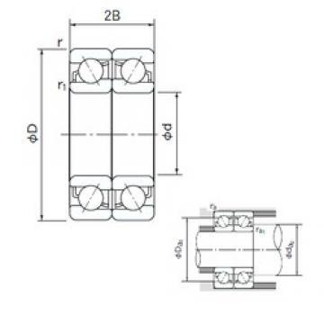 45 mm x 75 mm x 16 mm  NACHI 7009DF angular contact ball bearings