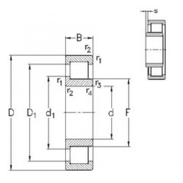 110 mm x 200 mm x 53 mm  NKE NJ2222-E-MA6 cylindrical roller bearings