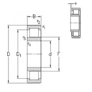110 mm x 200 mm x 53 mm  NKE NU2222-E-M6 cylindrical roller bearings