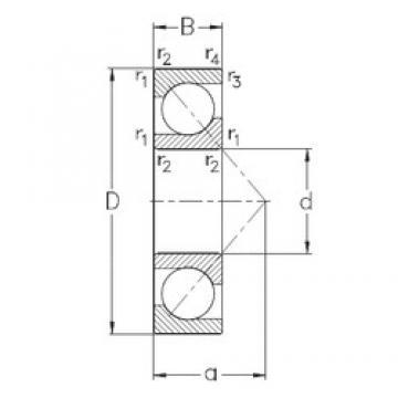 95 mm x 170 mm x 32 mm  NKE 7219-BE-MP angular contact ball bearings