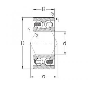 25 mm x 62 mm x 25,4 mm  NKE 3305-B-TV angular contact ball bearings