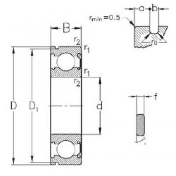 95 mm x 170 mm x 32 mm  NKE 6219-Z-NR deep groove ball bearings
