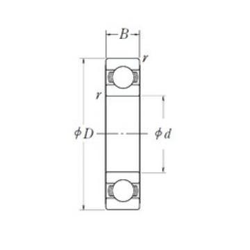 10 mm x 30 mm x 9 mm  NSK 6200L11DDU deep groove ball bearings