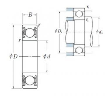 10 mm x 30 mm x 9 mm  NSK 6200ZZ deep groove ball bearings