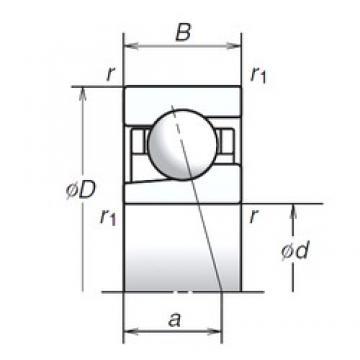 10 mm x 30 mm x 9 mm  NSK 10BGR02S angular contact ball bearings