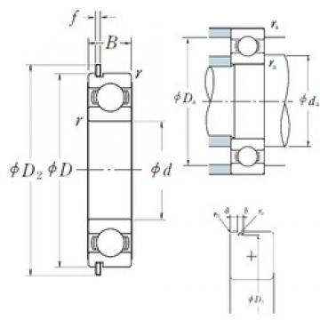 105 mm x 145 mm x 20 mm  NSK 6921NR deep groove ball bearings