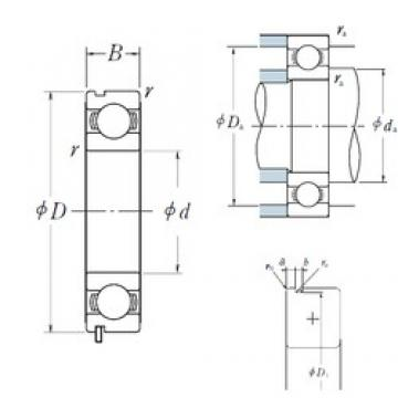 95 mm x 170 mm x 32 mm  NSK 6219N deep groove ball bearings