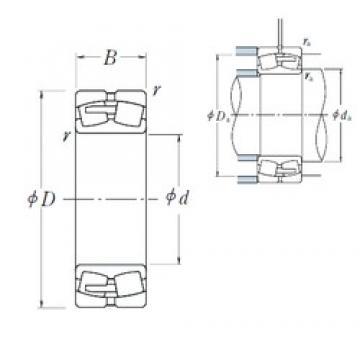 280 mm x 500 mm x 130 mm  NSK 22256CAE4 spherical roller bearings