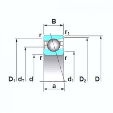 45 mm x 75 mm x 16 mm  NSK 7009CTRSU angular contact ball bearings