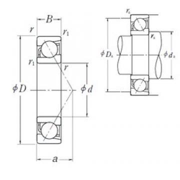 105 mm x 145 mm x 20 mm  NSK 7921 A5 angular contact ball bearings