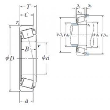 40 mm x 90 mm x 23 mm  NSK HR30308J tapered roller bearings