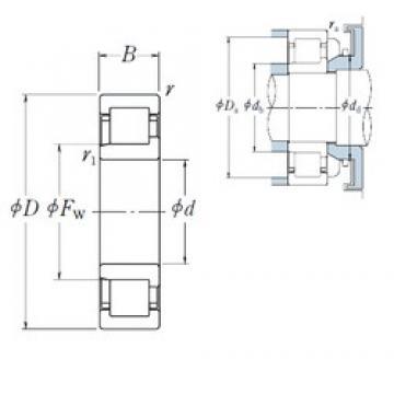220 mm x 460 mm x 88 mm  NSK NJ 344 cylindrical roller bearings