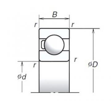 10 mm x 30 mm x 9 mm  NSK 6200T1X deep groove ball bearings