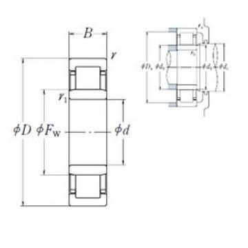 110 mm x 200 mm x 53 mm  NSK NU2222 EM cylindrical roller bearings