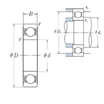 10 mm x 30 mm x 9 mm  NSK 6200 deep groove ball bearings