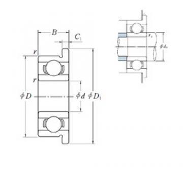 5 mm x 14 mm x 5 mm  ISO F605 deep groove ball bearings