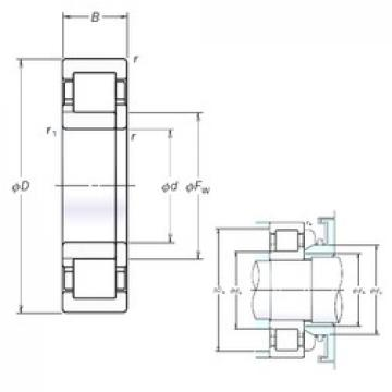 150 mm x 320 mm x 65 mm  NSK NUP330EM cylindrical roller bearings