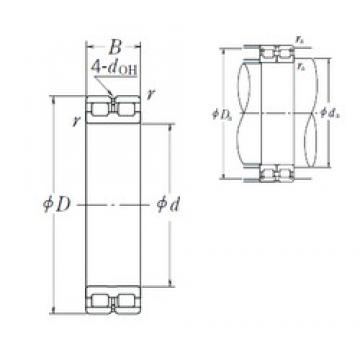 280 mm x 380 mm x 100 mm  NSK RSF-4956E4 cylindrical roller bearings