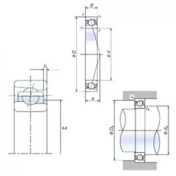70 mm x 110 mm x 20 mm  NSK 70BER10H angular contact ball bearings