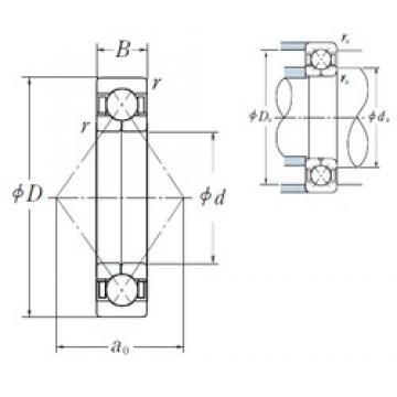 95 mm x 170 mm x 32 mm  NSK QJ219 angular contact ball bearings