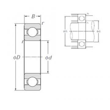 95 mm x 170 mm x 32 mm  NTN 6219 deep groove ball bearings