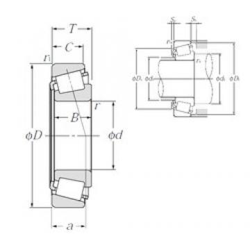 40 mm x 90 mm x 23 mm  NTN 4T-30308D tapered roller bearings