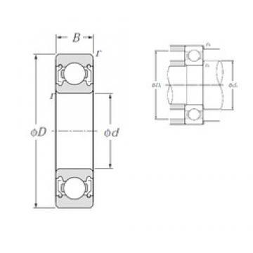 70 mm x 110 mm x 20 mm  NTN 6014ZZ deep groove ball bearings