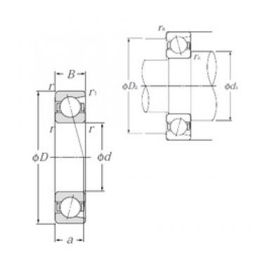 95 mm x 170 mm x 32 mm  NTN 7219B angular contact ball bearings