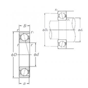 110 mm x 140 mm x 16 mm  NTN 7822C angular contact ball bearings