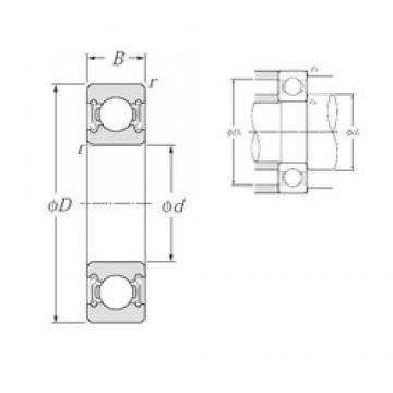 45 mm x 75 mm x 16 mm  NTN 6009LLB deep groove ball bearings