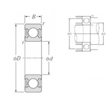 105 mm x 145 mm x 20 mm  NTN 6921LLU deep groove ball bearings