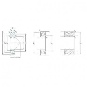 95 mm x 170 mm x 32 mm  SKF 7219BEP angular contact ball bearings