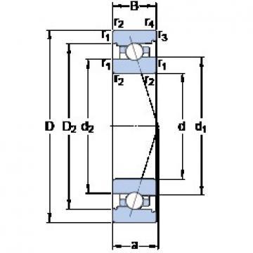 110 mm x 170 mm x 28 mm  SKF 7022 CB/HCP4A angular contact ball bearings