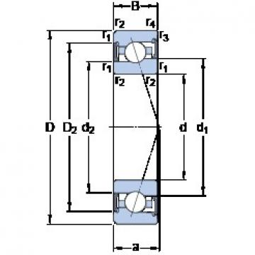 110 mm x 170 mm x 28 mm  SKF S7022 CE/P4A angular contact ball bearings