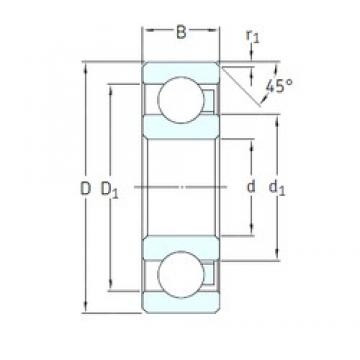 10 mm x 30 mm x 9 mm  SKF 6200/HR22T2 deep groove ball bearings