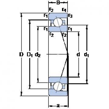 110 mm x 170 mm x 28 mm  SKF 7022 ACE/P4A angular contact ball bearings