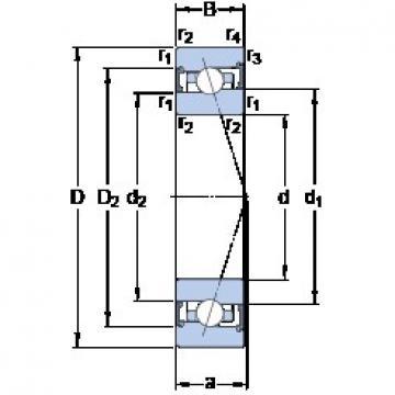 110 mm x 170 mm x 28 mm  SKF S7022 ACB/HCP4A angular contact ball bearings