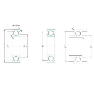 6 mm x 17 mm x 6 mm  SKF W606 deep groove ball bearings