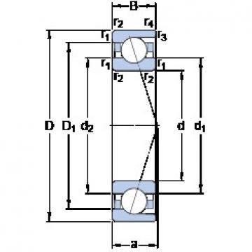 110 mm x 170 mm x 28 mm  SKF 7022 ACD/P4A angular contact ball bearings