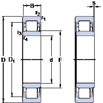 110 mm x 170 mm x 28 mm  SKF NU 1022 ML thrust ball bearings